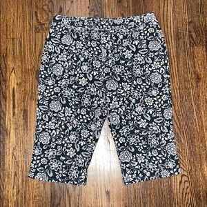 So Blue Sigrid Olsen Floral Capri